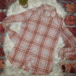 "J Crew ""Perfect Fit"" Plaid Shirt"